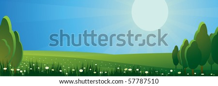 day landscape - stock vector