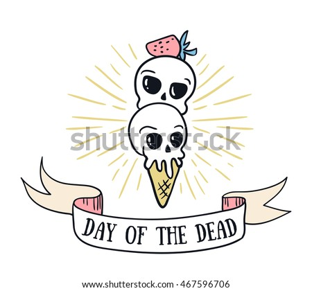 Day dead lettering greeting card vector stock vector 2018 day of the dead lettering greeting card vector holiday background hand drawn stylish illustration m4hsunfo