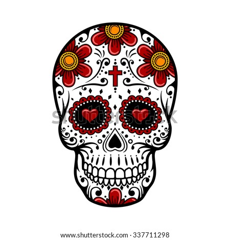 Day of the dead skull stock images royalty free images for Day of the dead skull tattoo