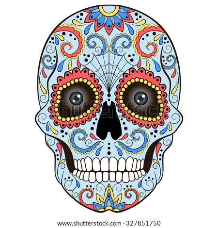 Simple dog coloring page - Sugar Skull Stock Photos Royalty Free Images Amp Vectors