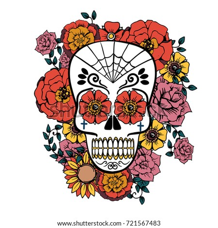 day dead vector illustration poster mexican stock vector royalty