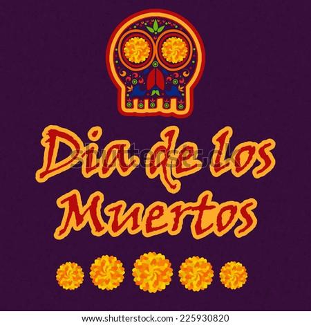 Day of the death Illustration design, Dia De Los Muertos - stock vector