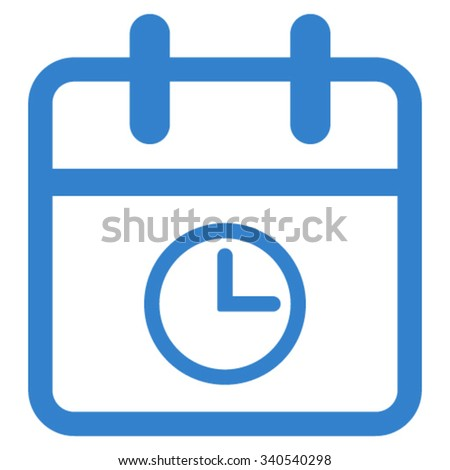 Day Time vector icon. Style is flat symbol, cobalt color, rounded angles, white background. - stock vector