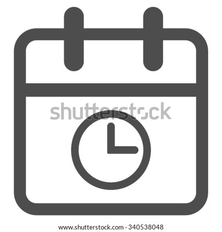Day Time vector icon. Style is flat symbol, gray color, rounded angles, white background. - stock vector
