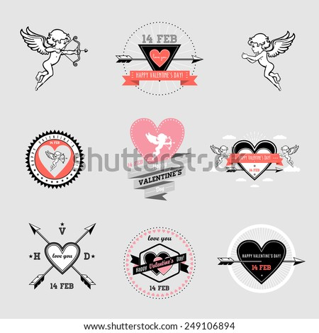 Day valentines.Valentines icons set. eps8 - stock vector