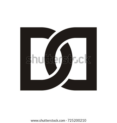 DD Initial Letter Logo Design Template Stock Vector (Royalty Free ...