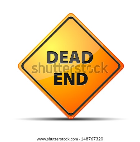 Dead End - stock vector