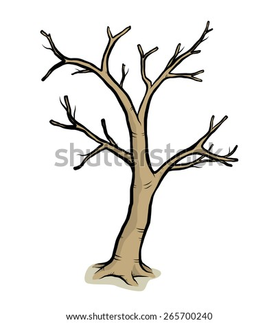 how to draw a leafless tree