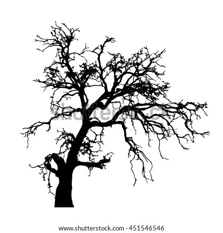 dead tree silhouette stock vector 451546546 shutterstock rh shutterstock com Vector Dead Tree with Buds dead tree vector png