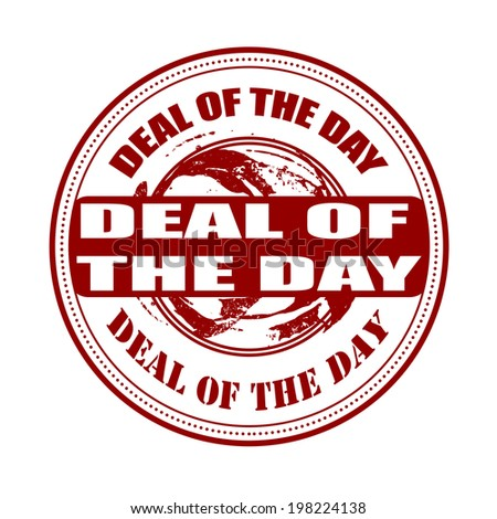 deal of the day stamp with on vector illustration