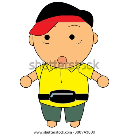 Referee Calling Timeout Technical Foul Stock Vector 87531973 ...