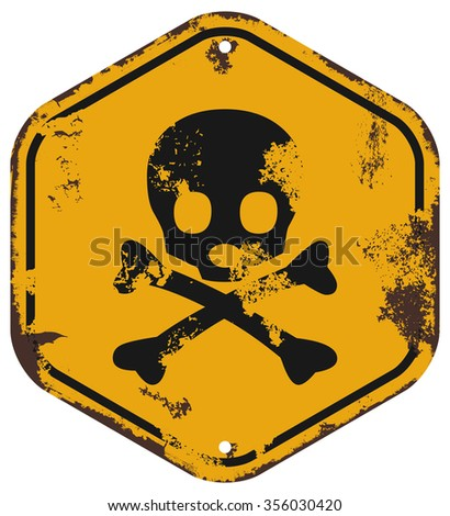 death danger icon - stock vector