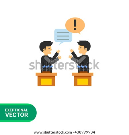 Debates Vector Icon - stock vector