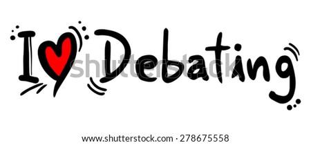 Debating love - stock vector