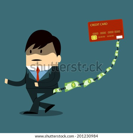 Debt - stock vector