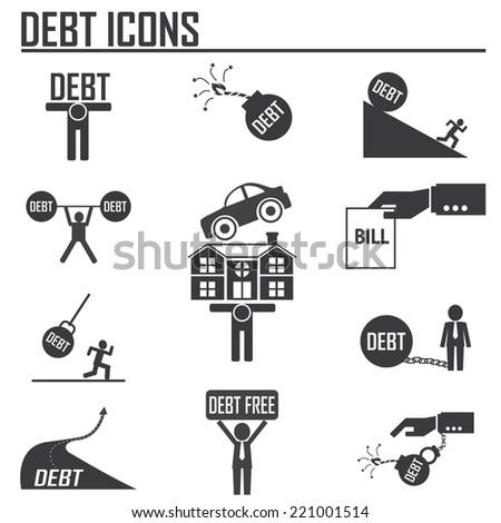 debt burden concept - stock vector