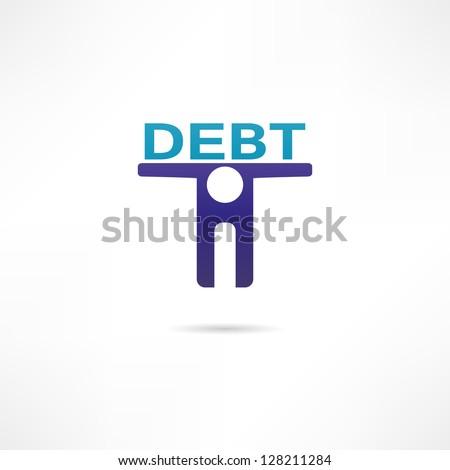 Debt icon - stock vector