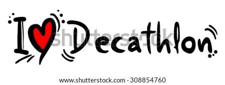 Decathlon love - stock vector
