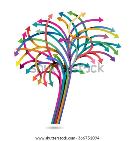Decision making and the brain, eps10 vector - stock vector