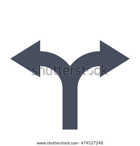Decision making Concept with direction arrow sign.