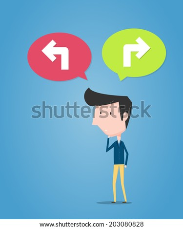Decision of businessman. Business concept - stock vector