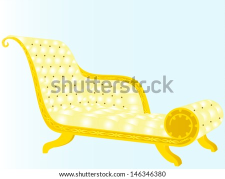 Deck chair, sofa - �¡ezlong, antiques luxury apartments, often at the beginning of last century