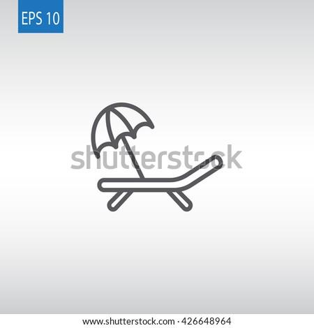 Deckchair icon, Deckchair icon eps 10, Deckchair icon vector, Deckchair icon illustration, Deckchair icon jpg, Deckchair icon picture, Deckchair icon flat, Deckchair design, Deckchair icon web. - stock vector