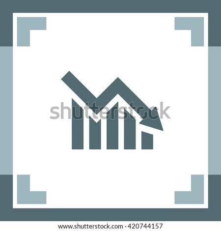 Declining Graph vector icon