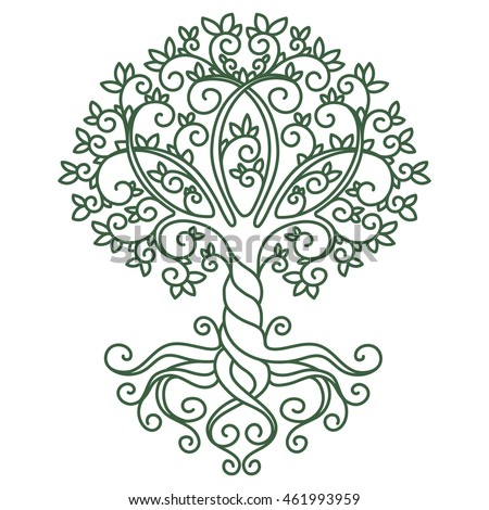 Decor Element, Vector, Illustration, Mandala, Tree, Tattoo, Plant, Doodle
