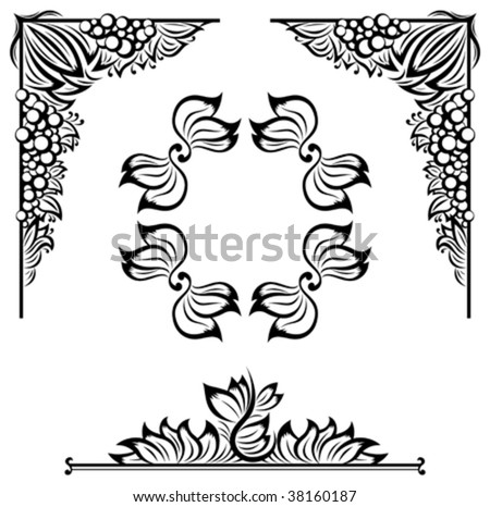 decor floral frame