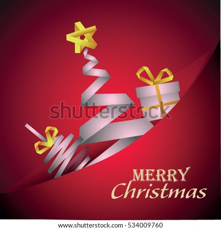 Decorated christmas tree holiday illustration vector
