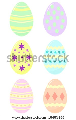 decorated Easter eggs vector - stock vector