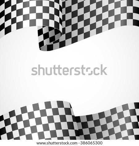 Decoration of racing flag on white - stock vector