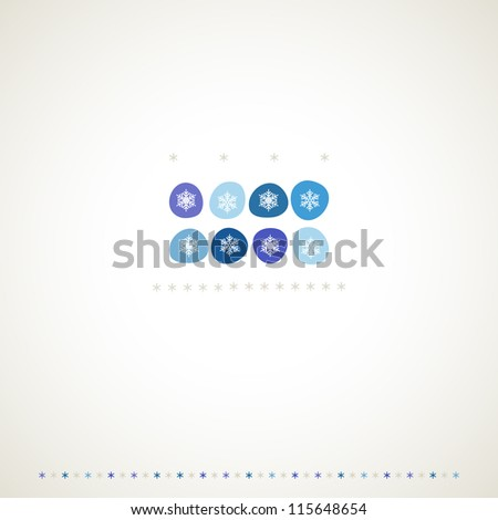 Decoration snowflakes winter background. Vector illustration. - stock vector