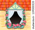 Decoration window - stock vector