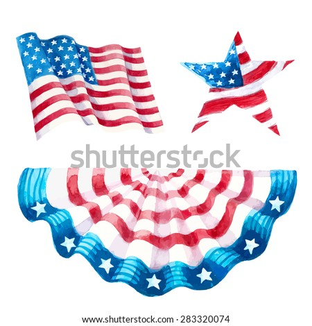 Decorations set independence day.