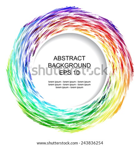 Decorative abstract background with colored circular element. Place for your text. - stock vector