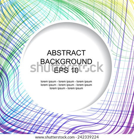 Decorative abstract background with colored stripes  - stock vector