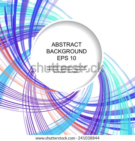Decorative abstract colored background with circular element - stock vector