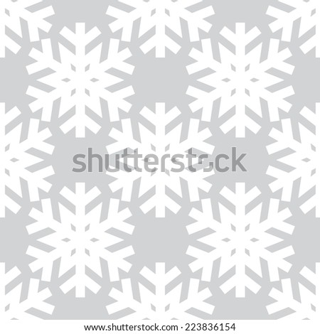 Decorative abstract snowflake. Seamless - stock vector