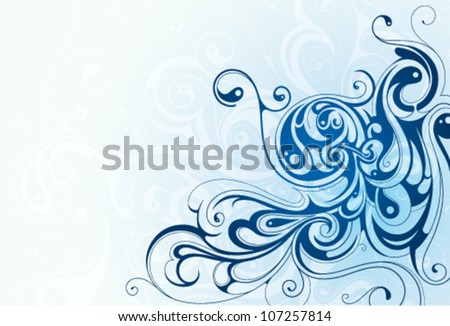 Decorative abstraction with swirls - stock vector