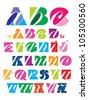 decorative alphabet - stock vector
