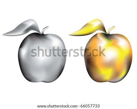 Decorative apples - stock vector