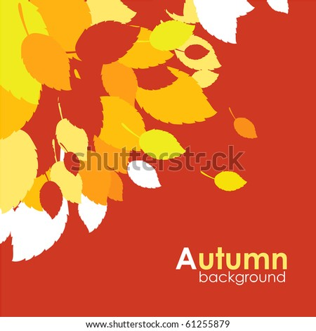 Decorative autumn leaves vector background. - stock vector