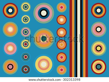 decorative background concentric circles