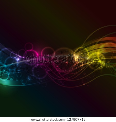 Decorative background with an abstract music notes design