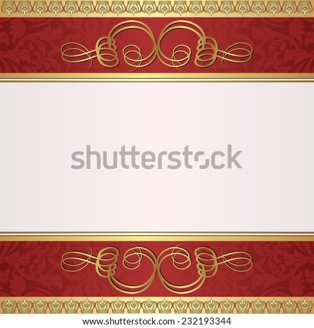 decorative background with ornate ornament - stock vector