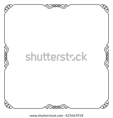 Decorative black square frame.