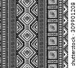 Decorative Boho Ancient Hand Drawn Ethnic Seamless Pattern - stock vector