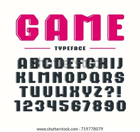 Decorative Bold Sanserif Font With Rounded Corners Letters And Numbers For Logo Title Design